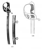 Сабля прусская кавалерийская обр.1852 г. Слева - солдатская Справа - офицерская