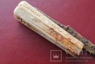 Нож КР. Ручка- кость с рунами