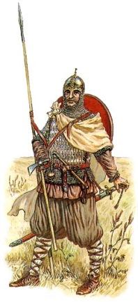 дружинник времен князя Святослава и Владимира