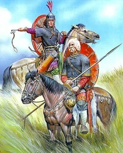 Витязи в бронях Курган Черная Могила