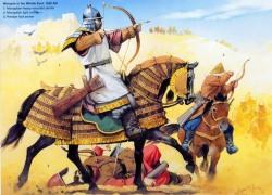 G1: Монгольский тяжеловооруженный конный лучник; G2: Монгольский легковооруженный воин