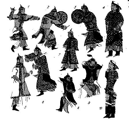 монгольских мягких панцирей «хатангу дегель»