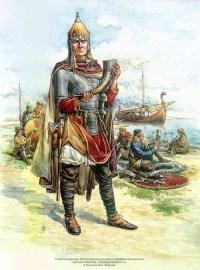 дружинник с мечом