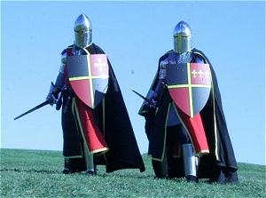 рыцари со щитами