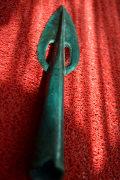 Крупный бронзовый прорезной наконечник копья Белозерской культуры
