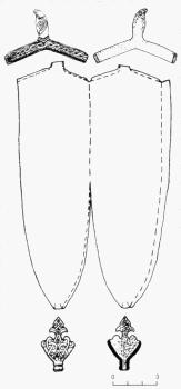 Составные части высоких наконечников ножен мечей на примере наконечника из Трчиницы (Польша)