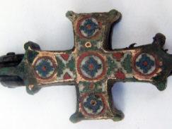 Энколпион укрешенный перегородчатой эмалью 11-13 век