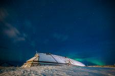 Усадьба вождя викингов долгой нормежской зимой