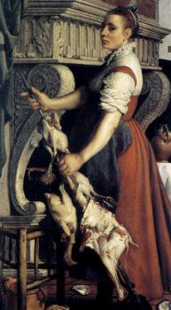 Кухарка 1550, худ. Артсен Питер (Aertsen Pieter)