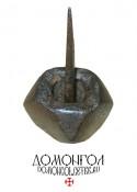 улава с фиксирующем гвоздевидным клином, железо, тип II по Кирпичникову, XII-XIII вв., вес 176гр.