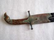 Рукоять сабли карабеллы с навершием - бронзовой головой орла