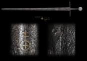 Средневековый боевой одноручный меч