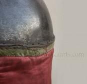 восточный антикварный стальной шлем в потрясающем состоянии