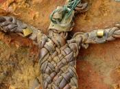 Рукоять щита из плетеной кожи