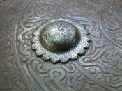 Персидский стальной щит Дхал
