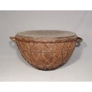 Большой старинный турецкий Османский военный барабан в форме чаши