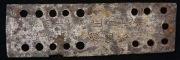 Пластина монгольского ламеллярного доспеха с надписью