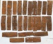 Пластины монгольского ламеллярного доспеха