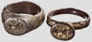 Два серебряных кольца, Балкано-турецкие, 16 Века