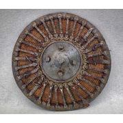 Османский усиленный стальными деталями плетеный из лозы щит Калкан
