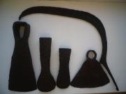 небольшой наборчик железных рабочих инструментов 17-19 ст