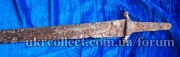 аланская сабля 12-13 в.в.сплошное железо!мощная и тяжелая.клин-109 см,обух-0,8 см