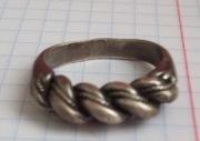 Изысканный серебряный перстень Киевской Руси