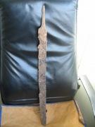 находка балтского однолезвийного меча длиной 68 см.