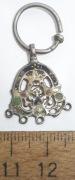 Серьга серебрянная с эмалью