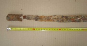 остриё клинка и наконечник ножен аланской сабли