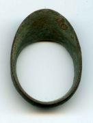 Шеврон - кольцо на большой палец лучника, бронзовое