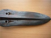 Острие прорезного хазарского наконечника копья