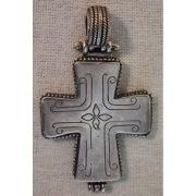 Большой крест энколпион (Enkolpion) византийского стиля, cеребряный, 12-15-й века нашей эры