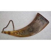 Роговая пороховница, конец 17 -нач.18 века