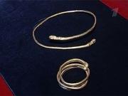 Сарматские золотые браслет и гривна