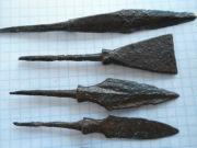 Железные черешковые наконечники стрел эпохи развитого средневековья