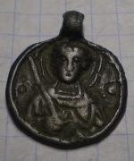 Бронзовая иконка с изображением Святого Георгия 12-13 век