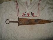 Широколезвийный сарматский меч