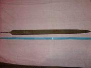 Клинок обоюдоострый с хвостовиком, длиной 84 см