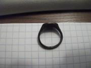 серебрянный перстень печатка Воин с луком, 17 век
