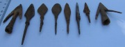 Коллекция наконечников стрел периода Киевской Руси