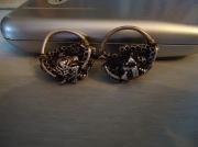 пара древнерусских серебрянных женских серьг (колты)