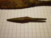 Железный наконечник копья и стрелы