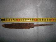 Большой нож со скосом на острие