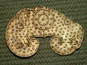 Золотая лунница Черняховской Культуры, горизонта Лейна-Хаслебен конец 3 века