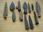 Древние бронзовые наконечники стрел