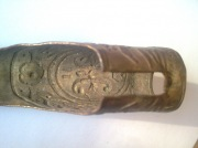 Тыльник сабли, с царскими инициалами