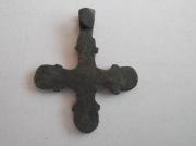 бронзовый крестик Киевской Руси тыльная сторона