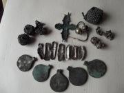комплекс украшений Киевской Руси (серебро, бронза в позолоте) плюс створка енколпиона