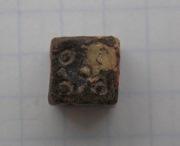 Кубик игральный Киевской Руси, свинцовый
